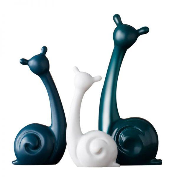 Decoratiune figurine animale. Decoratiune melci din ceramica
