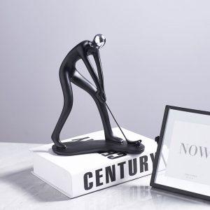 Statueta din rasina de culoare neagra