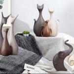 Decoratiuni potrivite pentru idei cadou de casa noua. Decoratiuni din ceramica : Pisici, cerbi elefanti