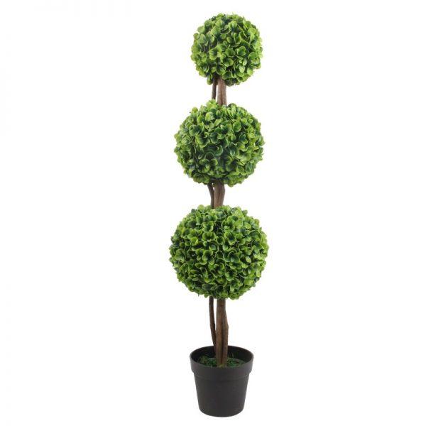 Arbust artificial, extrem de realistic, mereu verde si cu trunchi natural din lemn