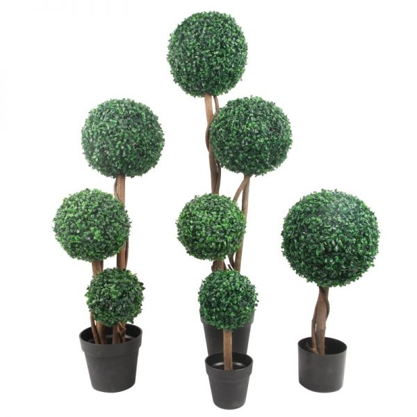Buxus ornamentali artificiali extrem de realisti.