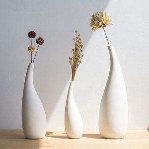 set vaze albe minimalistice