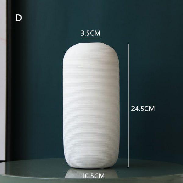 Vaza alba ceramica